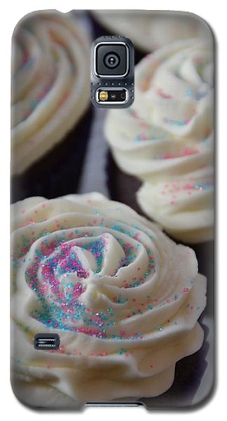 Pink And Blue Sparkles Galaxy S5 Case by Bonnie Myszka