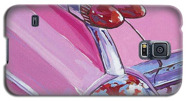 Pink Cadillac Galaxy S5 Case by Sandy Tracey