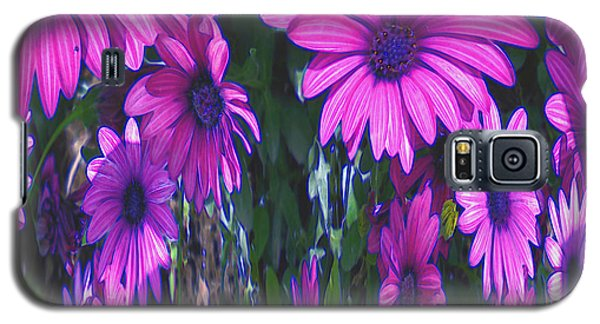 Pink Flower Power Galaxy S5 Case by Smilin Eyes  Treasures