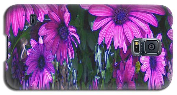 Pink Flower Power Galaxy S5 Case
