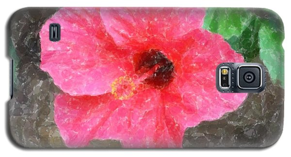 Galaxy S5 Case featuring the photograph Pink Hibiscus by Donna  Smith