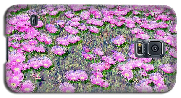 Pink Ice Plant Flowers Galaxy S5 Case