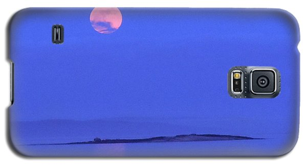 Galaxy S5 Case featuring the photograph Pink May Moon by Francine Frank