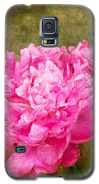 Pink Peony Texture 3 Galaxy S5 Case