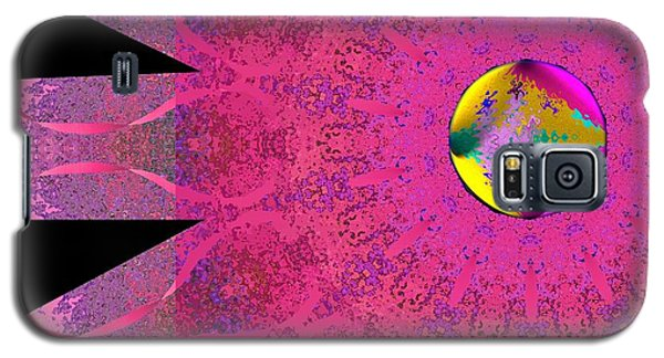 Galaxy S5 Case featuring the digital art Pink Ribbon Of Hope by Alec Drake