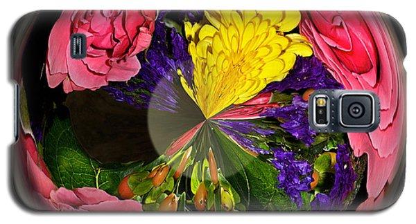 Pink Rose Globe Galaxy S5 Case