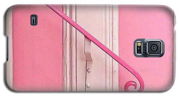 Color Galaxy S5 Case - Pink Stripes by Julie Gebhardt