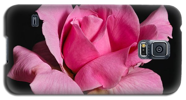 Galaxy S5 Case featuring the photograph Pink Tea Rose by Gary Dean Mercer Clark