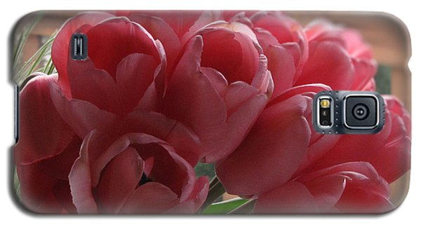 Galaxy S5 Case featuring the photograph Pink Tulips In Vase by Katie Wing Vigil