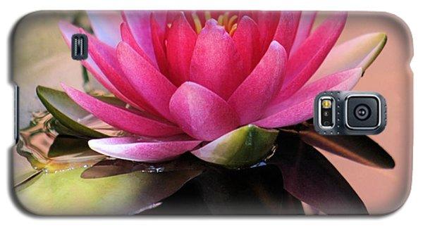 Pink Water Lily Galaxy S5 Case by Elizabeth Budd