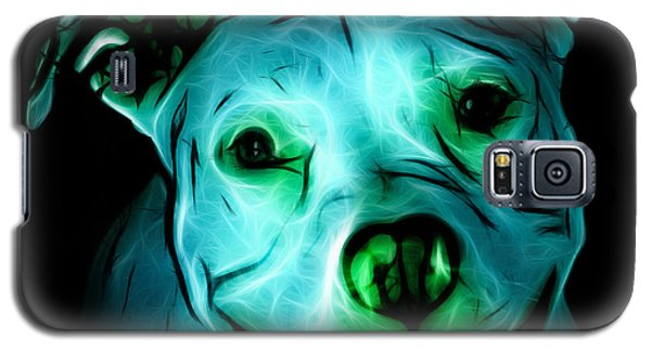 Pitbull Terrier - F - S - Bb - Cyan Galaxy S5 Case