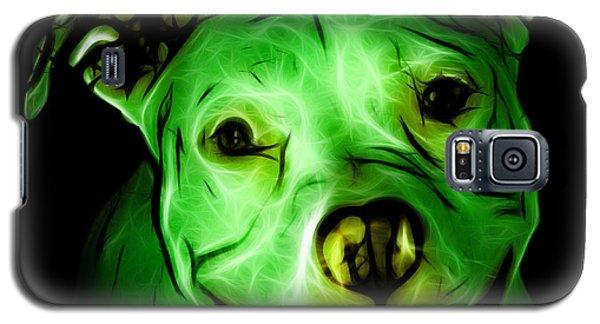 Pitbull Terrier - F - S - Bb - Green Galaxy S5 Case
