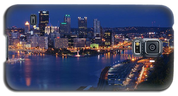 Pittsburgh In Blue Galaxy S5 Case