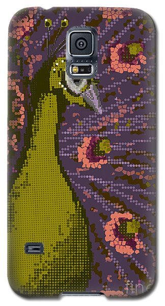Pixel Peacock In Pink Galaxy S5 Case