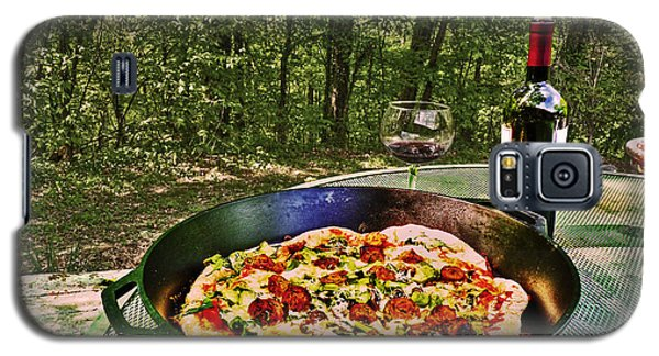 Galaxy S5 Case featuring the photograph Pizza And Vino by William Fields
