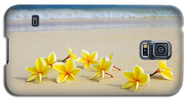 Plumerias On Beach II Galaxy S5 Case by Tomas del Amo