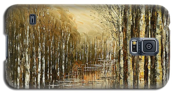 Galaxy S5 Case featuring the painting Pond Security by Tatiana Iliina