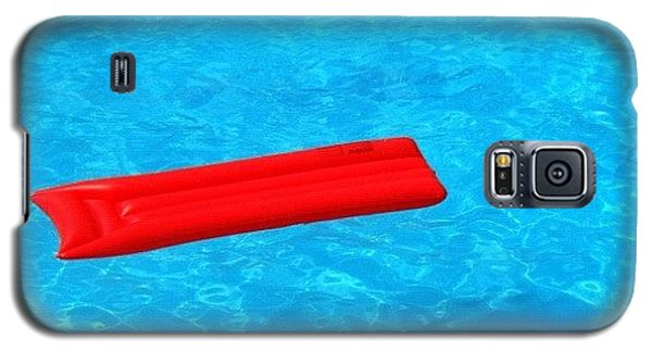 Pool - Blue Water And Red Airbed Galaxy S5 Case
