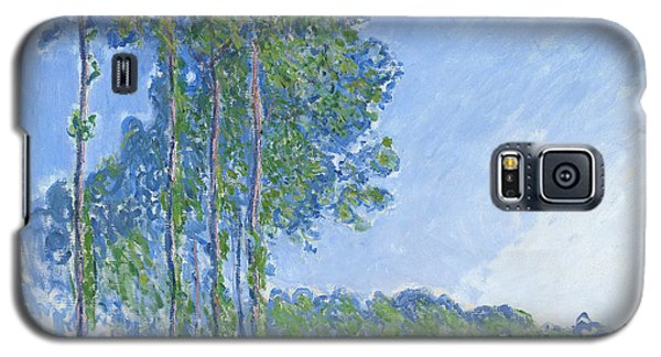 Impressionism Galaxy S5 Case - Poplars by Claude Monet