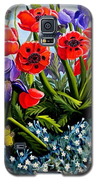 Poppies And Irises Galaxy S5 Case