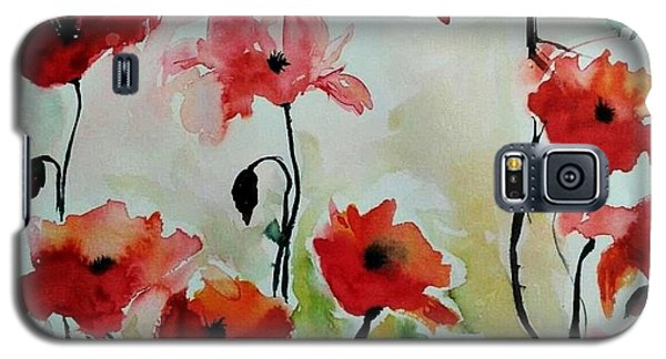 Poppies Meadow - Abstract Galaxy S5 Case
