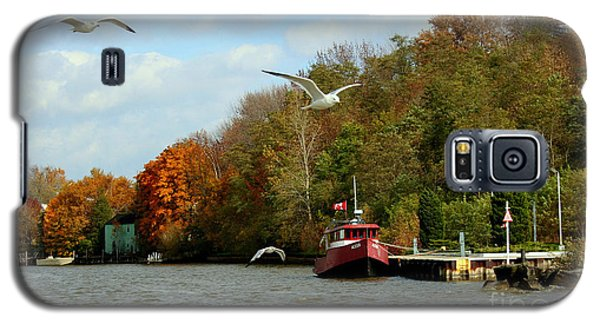Galaxy S5 Case featuring the photograph Port Dover Harbour by Barbara McMahon