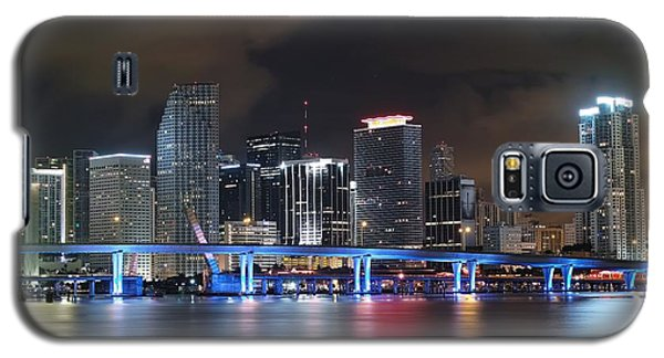 Galaxy S5 Case featuring the photograph Port Of Miami Downtown by Gary Dean Mercer Clark