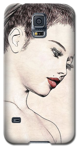 Portrait - No. 10 - Red Lips Galaxy S5 Case