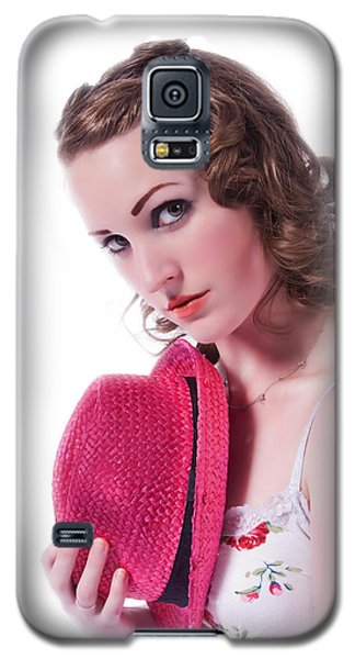Galaxy S5 Case featuring the photograph Portrait Of A Woman by Jim Boardman