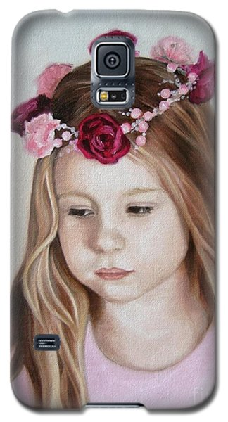 Galaxy S5 Case featuring the painting Portrait Of Kristinka by Jindra Noewi