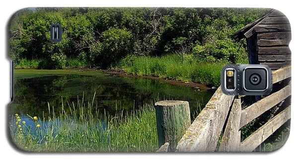 Galaxy S5 Case featuring the photograph Prairie Pond by Jim Sauchyn