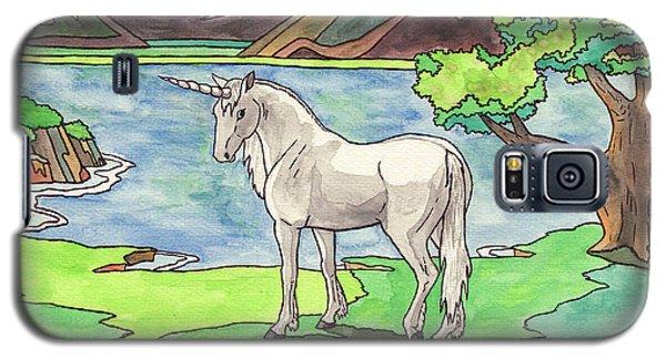 Prehistoric Unicorn Galaxy S5 Case
