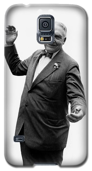 Galaxy S5 Case featuring the photograph President Warren G Harding - C 1920 by International  Images