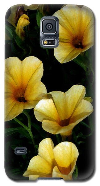 Galaxy S5 Case featuring the painting Pretty In Yellow by Karen Harrison