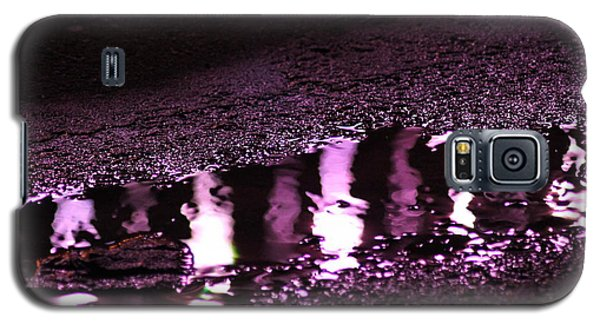 Galaxy S5 Case featuring the photograph Puddle In Purple Reflection by Carolina Liechtenstein
