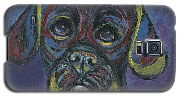 Puggle In Abstract Galaxy S5 Case