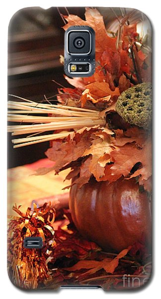 Pumpkin Leaf Decor Galaxy S5 Case