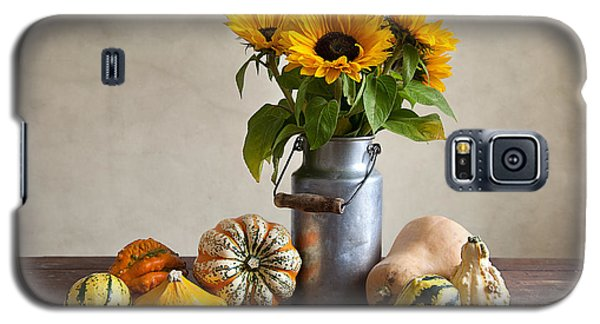 Pumpkins And Sunflowers Galaxy S5 Case by Nailia Schwarz