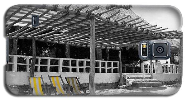 Galaxy S5 Case featuring the photograph Punta Mita North Of Puerto Vallarta Mexico Three Amigos Color Splash Black And White by Shawn O'Brien