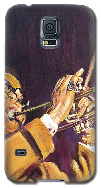 Purple And Gold Dizzy Gillespie Galaxy S5 Case