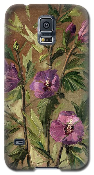 Purple Flowers 2 Galaxy S5 Case
