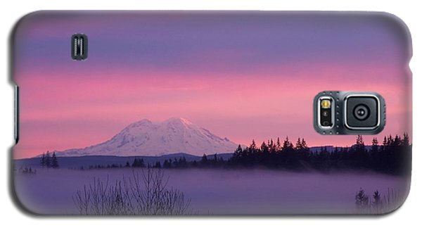 Galaxy S5 Case featuring the photograph Purple Mountain Majesty by Chalet Roome-Rigdon