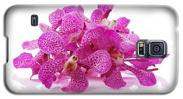 Purple Orchid Pile Galaxy S5 Case