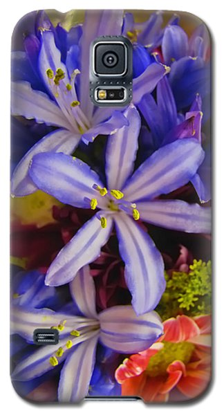 Galaxy S5 Case featuring the photograph Purple Stars by Debbie Portwood