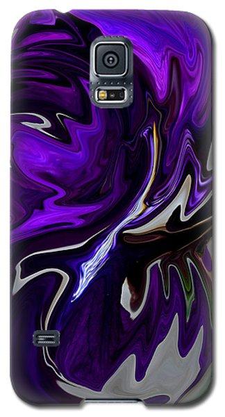 Galaxy S5 Case featuring the digital art Purple Swirl by Karen Harrison