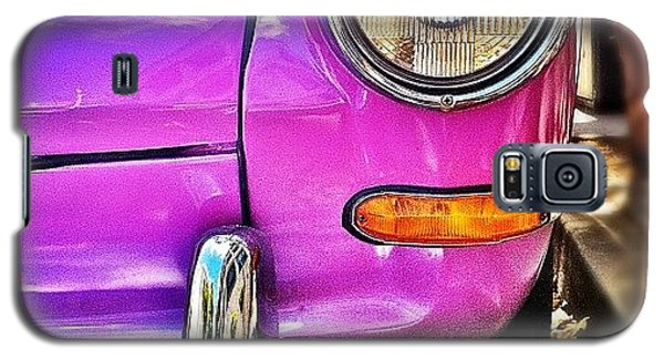 Colorful Galaxy S5 Case - Purple Vw Bug by Julie Gebhardt