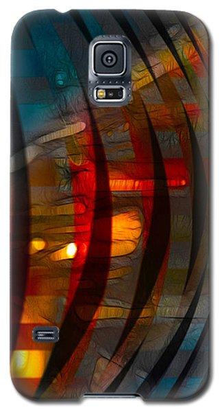 Pushing Paint  Galaxy S5 Case by Stuart Turnbull