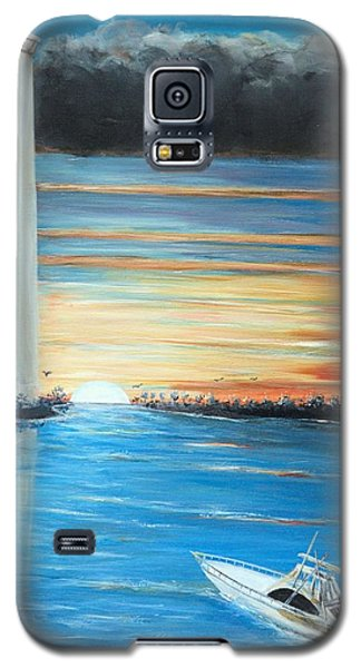 Galaxy S5 Case featuring the painting Put-in-bay Perry's Monument - International Peace Memorial  by Bernadette Krupa