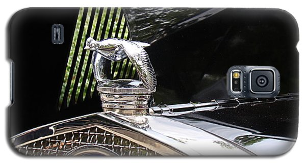 Galaxy S5 Case featuring the photograph Quail Radiator Cap- Ford by Nick Kloepping