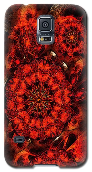 Galaxy S5 Case featuring the mixed media Quiet Intensity by Ray Tapajna